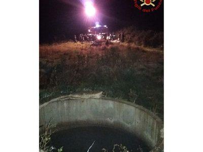 Il pozzo dove è stato rinvenuto il corpo della vittima