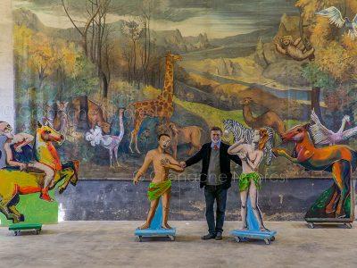 Jacopo Fo all'inaugurazione della mostra (foto S.Novellu)