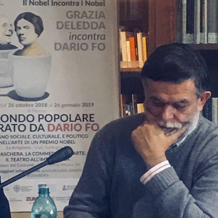 Jacopo Fo all'ISRE di Nuoro per la presentazione dell'evento