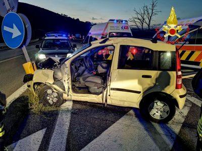 La scena dell'incidente nei pressi di Bonorva