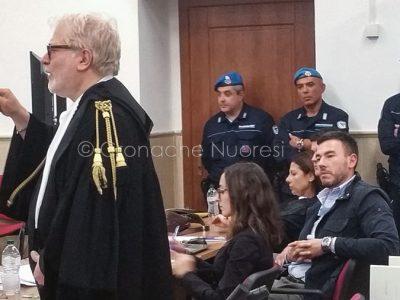 L'avvocato Rovelli durante il processo (foto Cronache Nuoresi)