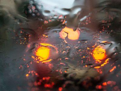 Maltempo, traffico a Nuoro sotto la pioggia (foto S.Novellu)