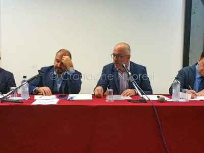 Un momento della conferenza sulla Fondazione biblioteca Satta (foto Cronache Nuoresi)