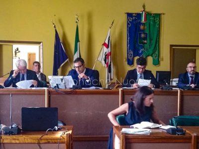 Il sindaco Soddu durante l'illustrazione del bilancio
