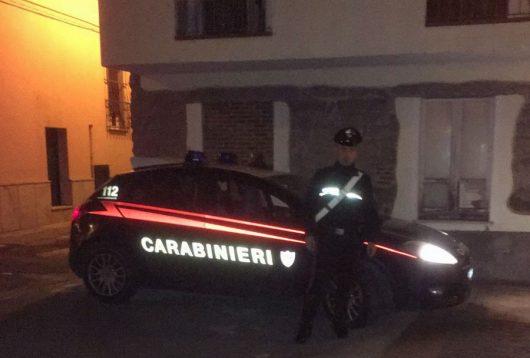 Carabinieri sul luogo dell'investimento