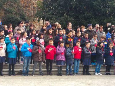 Gli studenti in occasione dell'evento in piazza Vittorio Emanuele