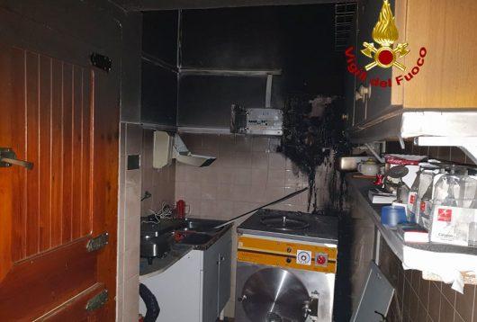 Il punto in cui si è sviluppato l'incendio