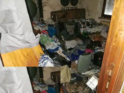 Olbia, l'interno della casa in cui è stata trovato il corpo della donna