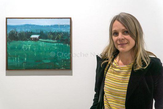 L'artista Anna Bjerger (foto S.Novellu)