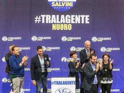 Matteo Salvini in visita a Nuoro (foto S.Novellu)