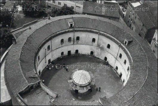 Nuoro, carcere La Rotonda dall'alto (foto F.Pinna)