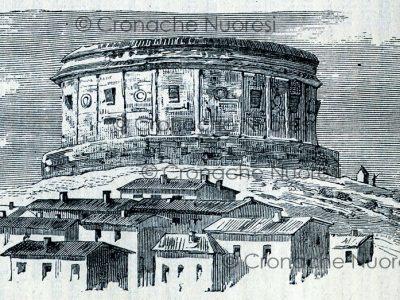 Nuoro, disegno dal vero del carcere eseguito da L.Agabiti, 1882
