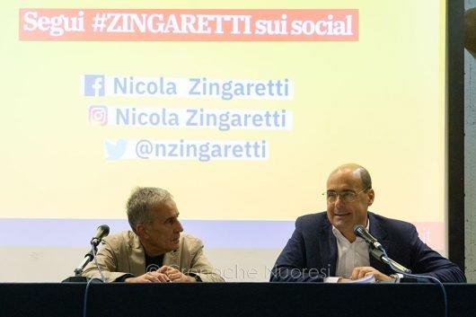 Giovanni Meria Bellu e Nicola Zingaretti (foto S.Novellu)