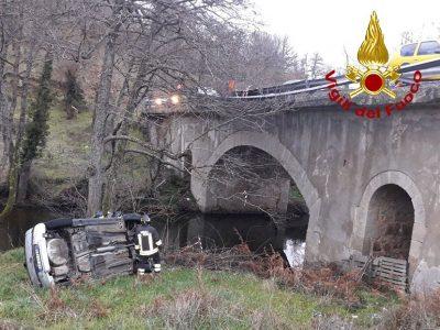 La Opel dopo l'incidente