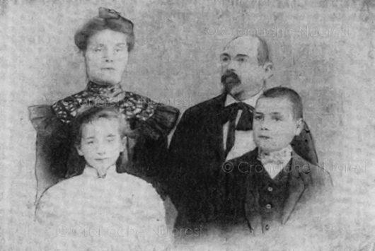 La famiglia di Francesco Ganga nel 1905