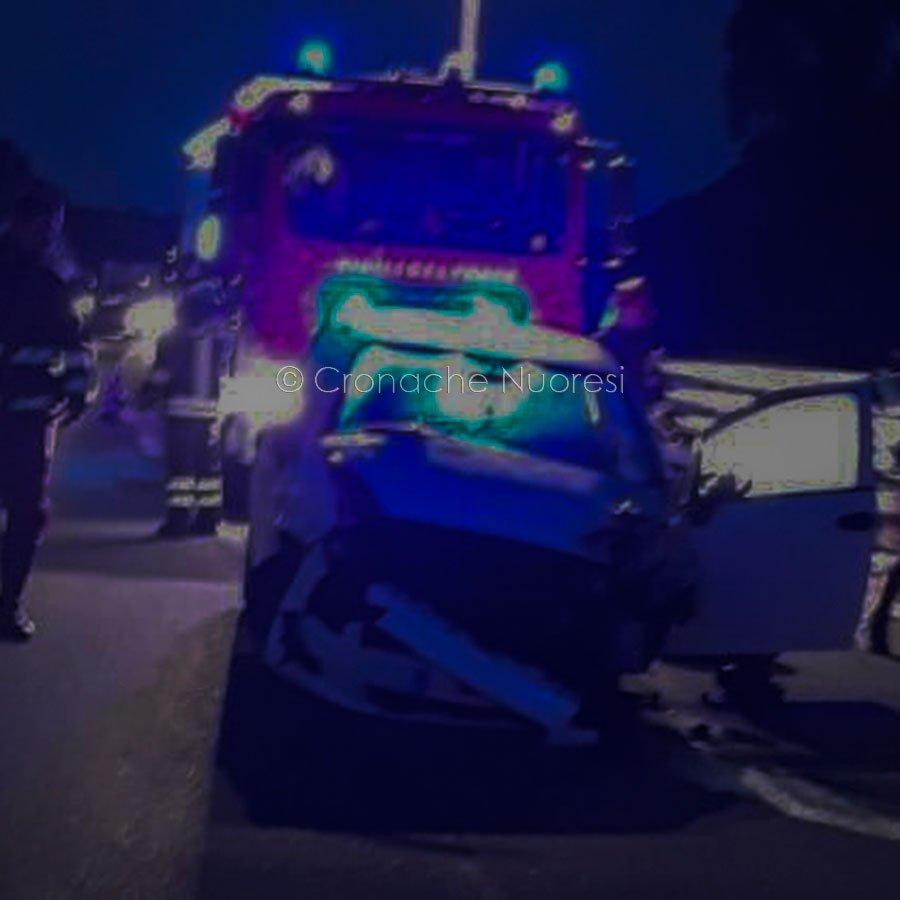La macchina dopo l'incidente