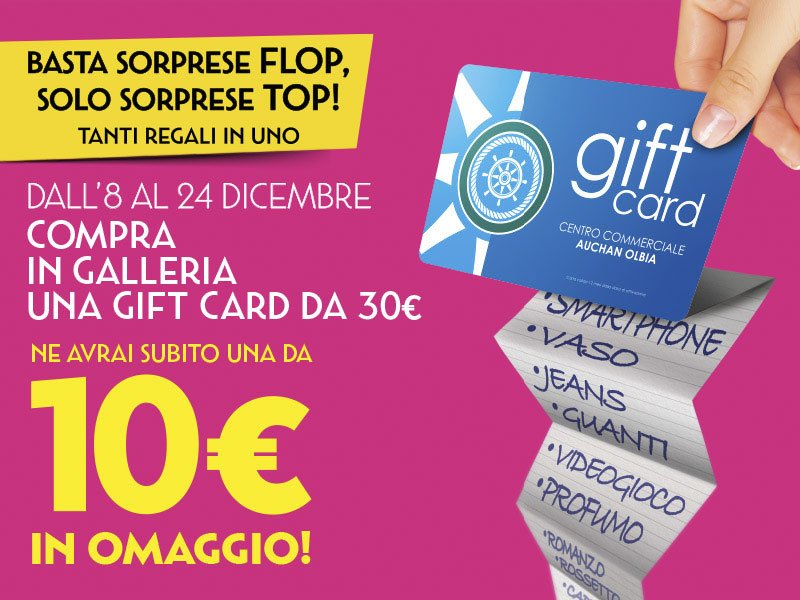 Olbia Auchan Per Natale Vuoi Tanti Doni In Uno La Gift Card