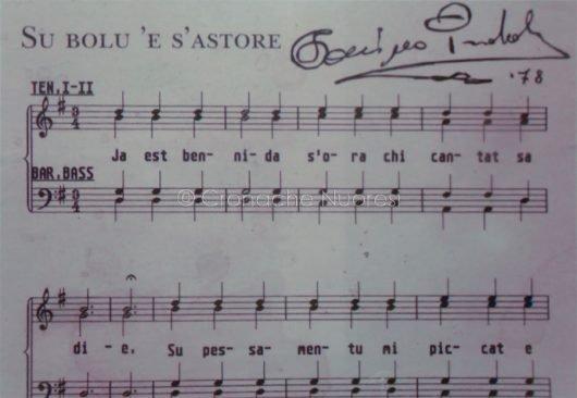 Spartito autografo di Su bolu 'e s'astore