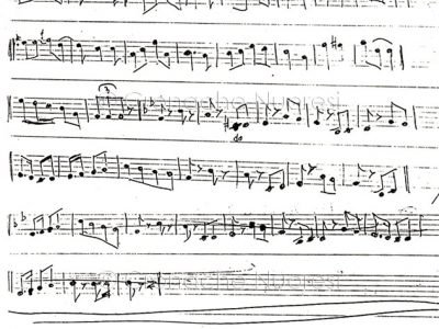 Spartito musicale Da Onanì a Siligo di Mastru Predischedda