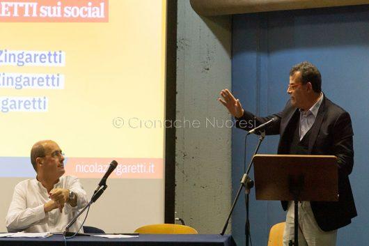 Zingaretti e Arru (foto S.Novellu)