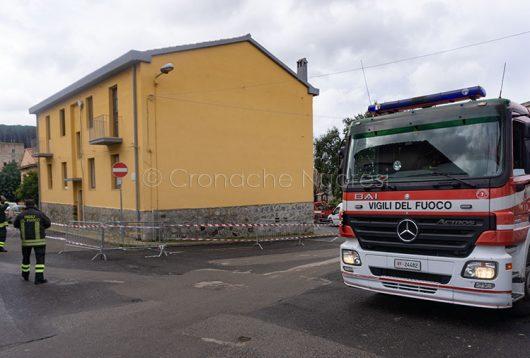 Scano Montiferro, l'edificio in cui è avvenuto il crollo (foto S.Novellu)