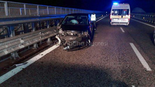 Una delle auto coinvolte nell'incidente sulla 131