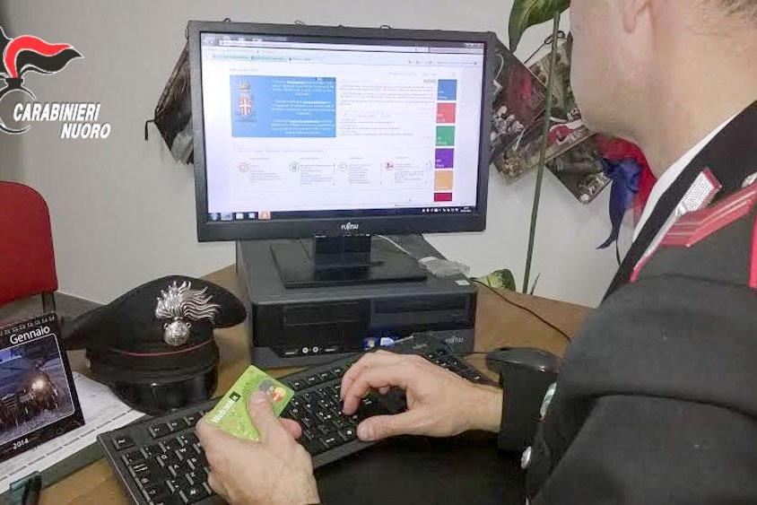 Carabinieri e truffa online