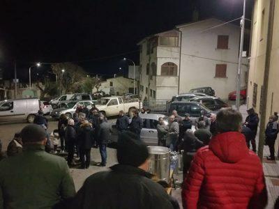Un momento della manifestazione a Bortigali (Foto P.G.Vacca)