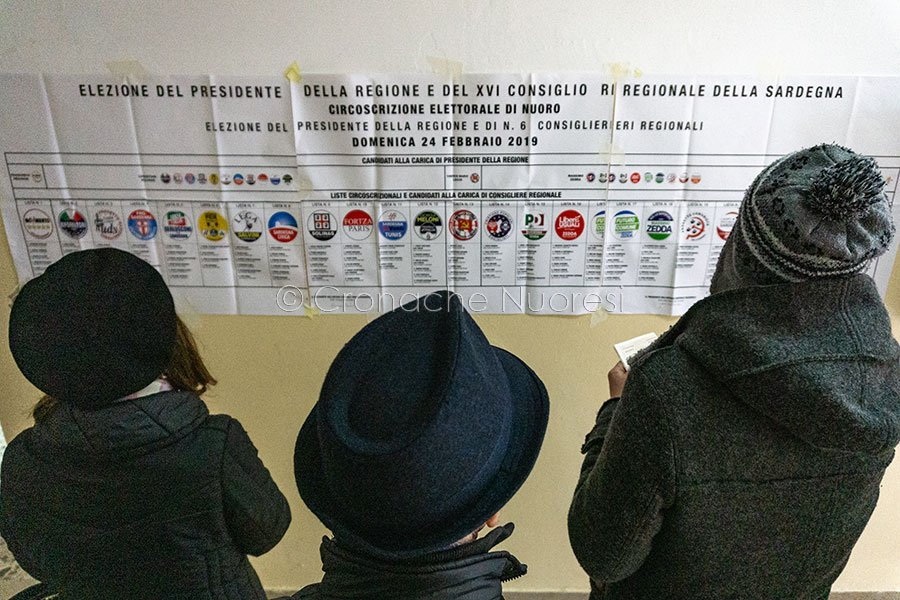 Nuoro, elezioni Regionali 2019 (foto S.Novellu)