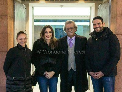 Nuoro, il sottosegretario alla Cultura Laura Borgonzoni all'ISRE con Pierluigi Saiu e col presidente Giuseppe Pirisi (© foto S.Novellu)