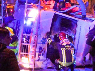 Nuoro, incidente in via Toscana (foto Piccirillo)