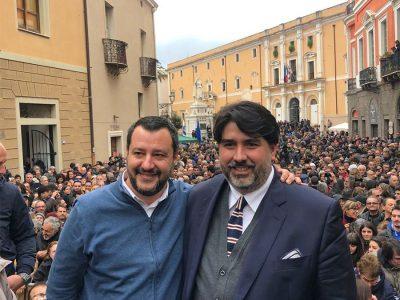 Christian Solinas con Salvini a Oristano