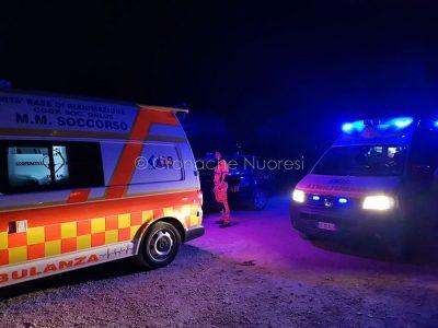 L'ambulanza del 118 MMSoccorso e la medicalizzata sul luogo dell'incidente