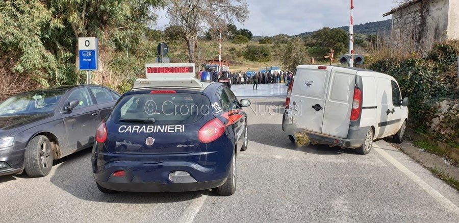 La protesta dei pastori a Orotelli (f. cronache Nuoresi)