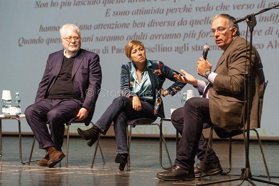 Fiammetta Borsellino al teatro Eliseo (foto S.Novellu)