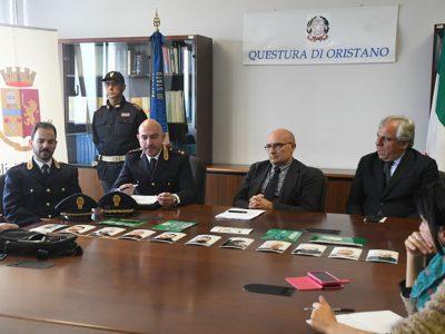 La conferenza stampa in Questura a Oristano