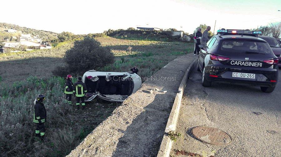 La scena dell'incidente di Bari Sardo