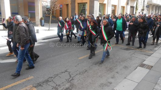 Macomer, manifestazione dei pastori (foto PG.Vacca)