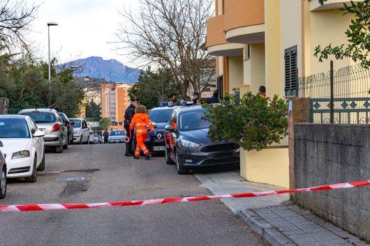 Nuoro, la via in cui è avvenuto l'omicidio di Romina Meloni (foto S.Novellu)