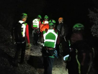 L'intervento del Soccorso Alpino a Gorroppu