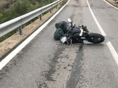 La moto dopo l'incidente