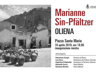 L'invito alla mostra di Marianne Sin-Pfältzer su Oliena