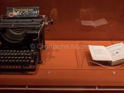Lo spazio dedicato alla Deledda alla mostra di Palazzo Pitti a Firenze (foto S.Novellu)
