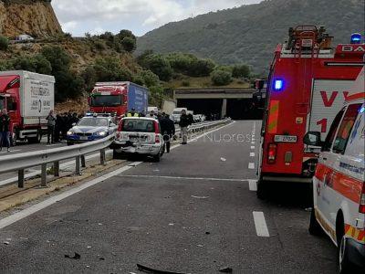 La scena dell'incidente sulla 131 DCN