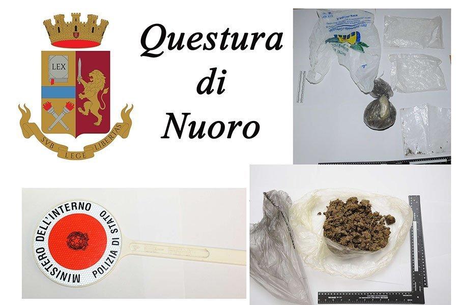 La droga sequestrata dalla Polizia a Nuoro