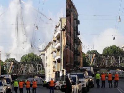 La demolizione del Viadotto Morandi