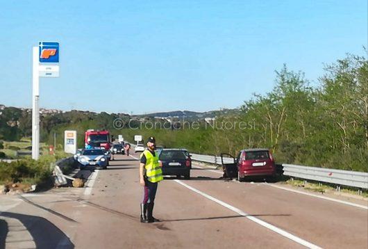 La scena dell'incidente sulla Statale 389