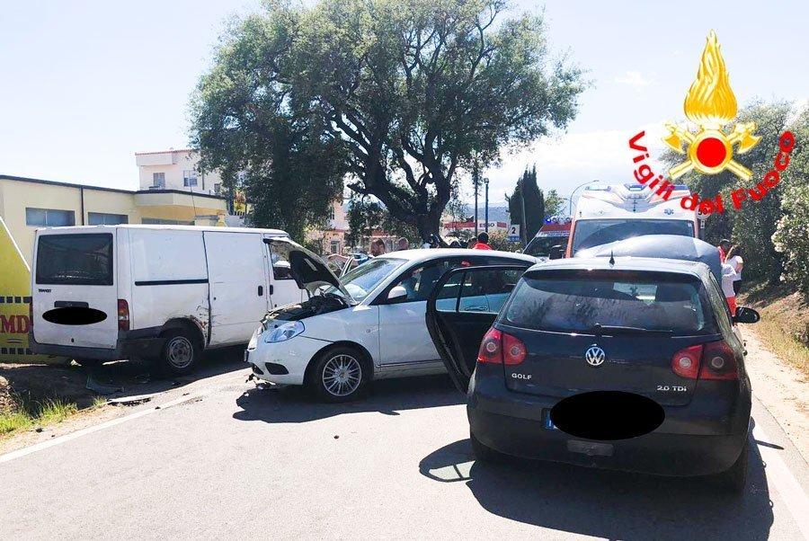 Le auto coinvolte nel sinistro