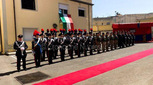 Un momento della celebrazione della festa dei Carabinieri