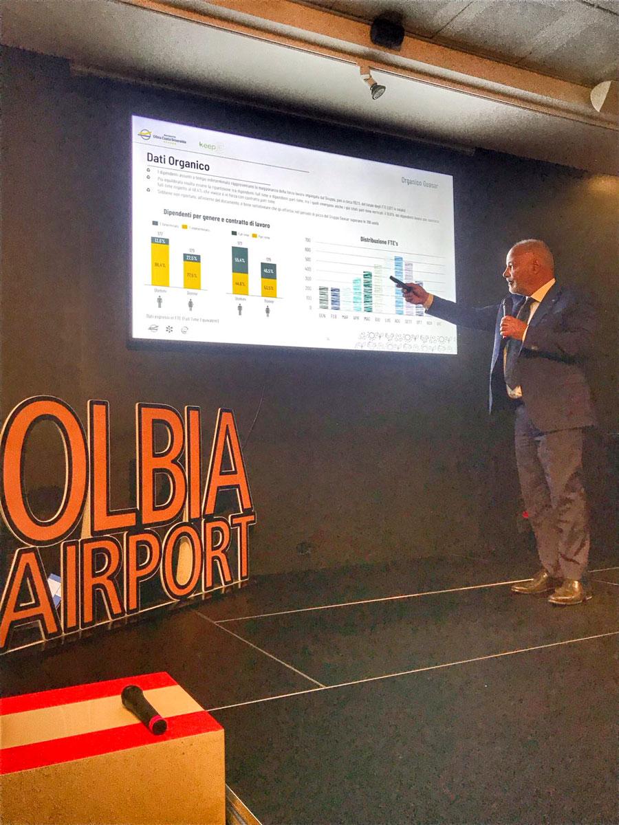 Olbia: aeroporto sempre più sostenibile, presentato il report